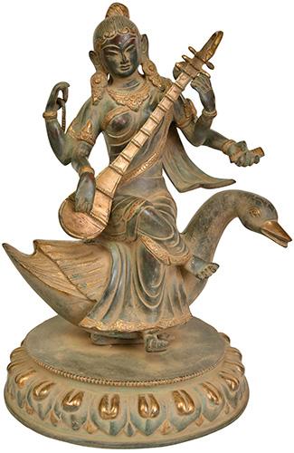Szaraszvati  - a bölcsesség, a tudás, a beszéd, a művészetek és a megvilásosító Gayatri mantra  istennője.